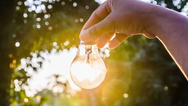 ampoule à la lumière du soleil