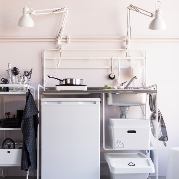 An easy to set up and take down kitchen.