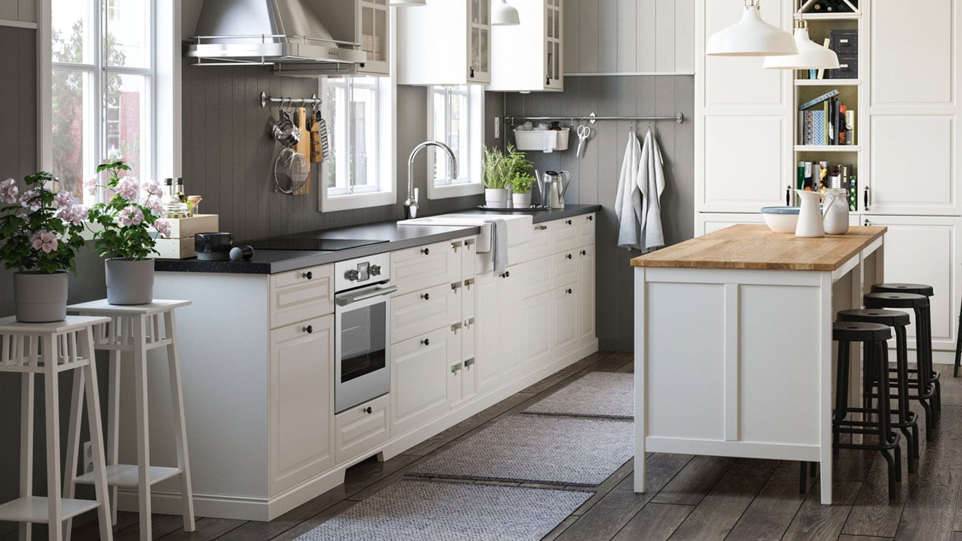 ikea bodbyn grey kitchen