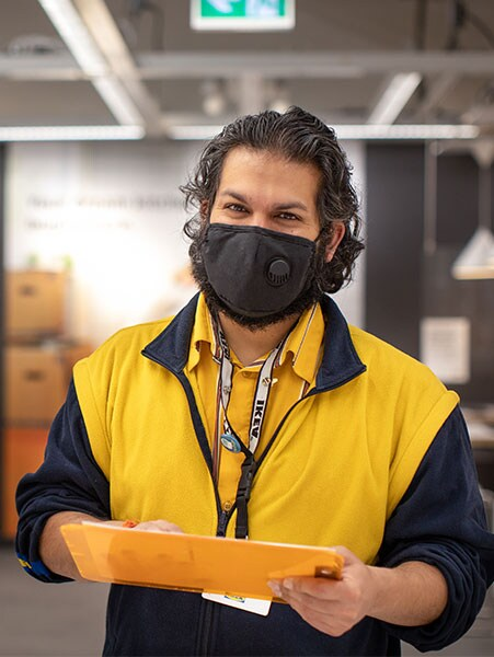 An IKEA co-worker ready to assist