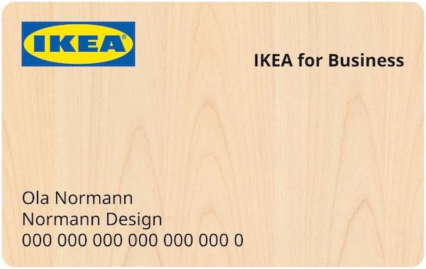 An IKEA for Business member card