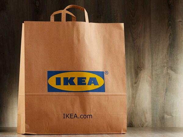 An IKEA paper bag