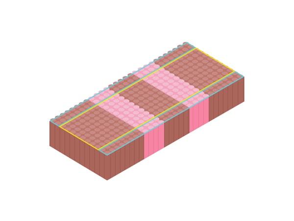 An illustration of 5-comfort zone mattress