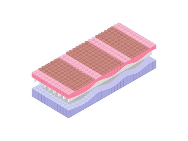 An illustration of 7-comfort zone mattress