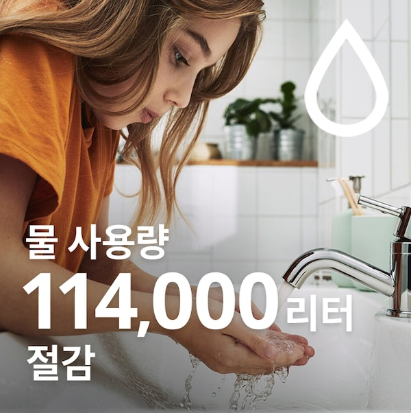 an image of a girl holding water from a tap with her both hands
