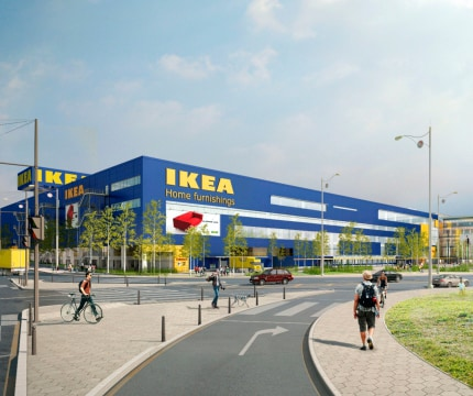 An image of the an IKEA store.