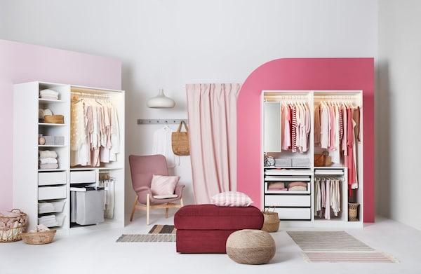 An open-plan PAX wardrobe solution.