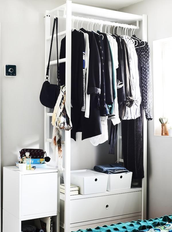An open wardrobe system.