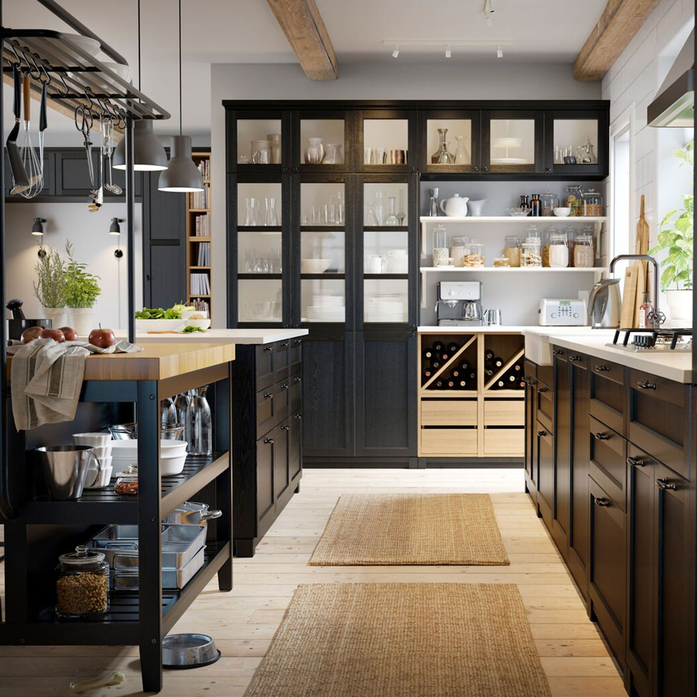 Ikea Showroom Kitchen: Store More With Your Kitchen Island