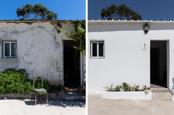 Antes de depois de uma casa reabilitada pela Just a Change