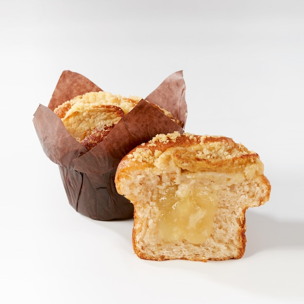Apple and cinnamon filled muffin