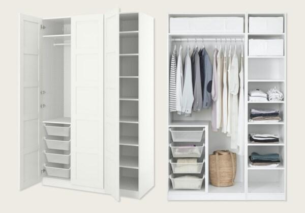 Armario, blanco, Bergsbo blanco, 150x60x236 cm