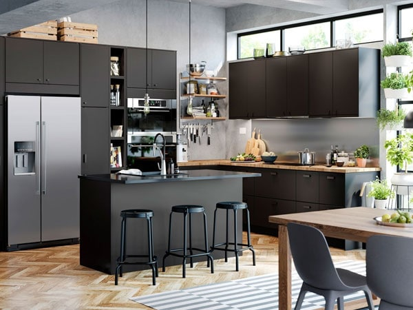Una cocina sostenible ikea for Cocina de planta abierta sala de estar