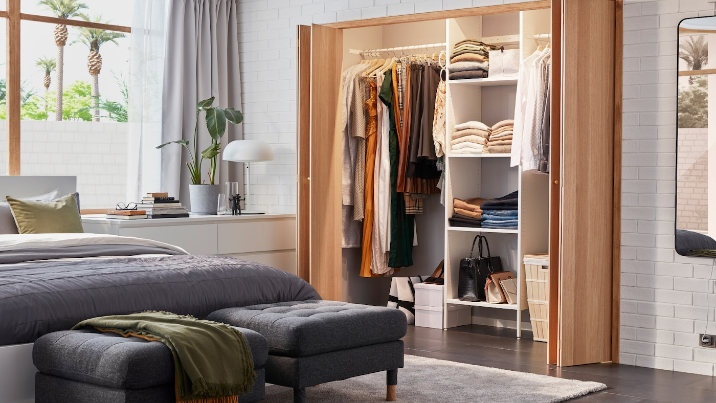wardrobe ikea aurdal armoire customized bed malm smart rangements intelligents fitted customised garde robe une matching flexible abordable combinaison besoins