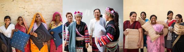 Artisanes des entreprises sociales Rangsutra, Doi Tung Development Project et Industree PT