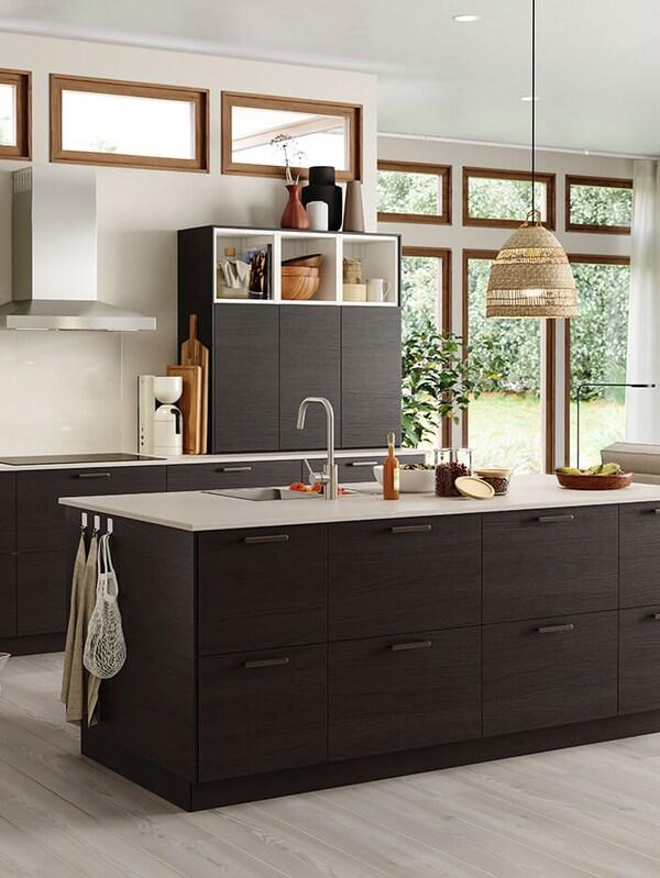 ASKERSUND dark brown kitchen