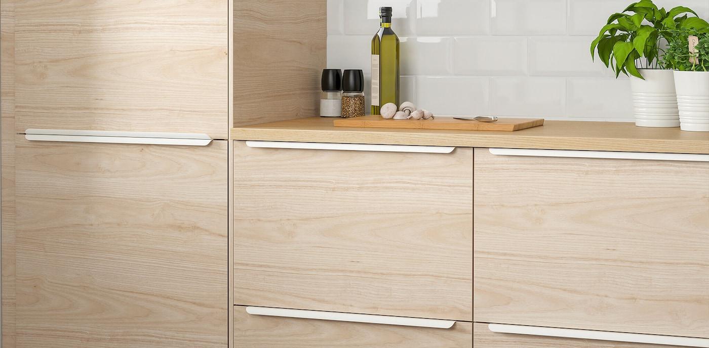 Light Ash Kitchen Cabinets Askersund Series Ikea
