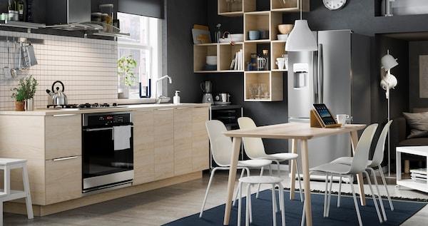ASKERSUND kitchen with blond ash wood.