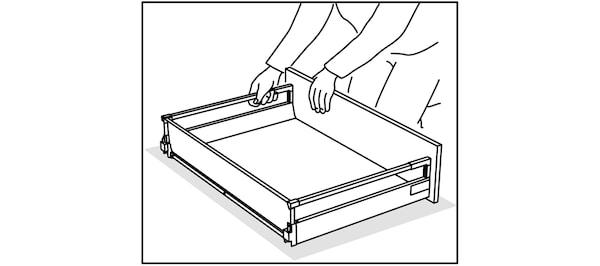 Assemblage des tiroirs de cuisine IKEA