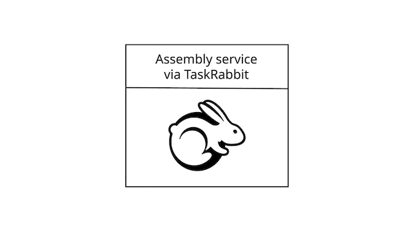 Assembly service via TaskRabbit.