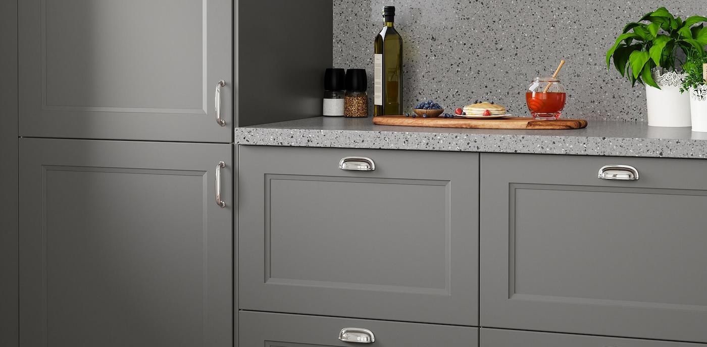 Modern Gray Kitchen Cabinets – AXSTAD Kitchen Series   IKEA