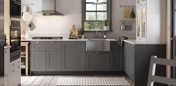 AXSTAD grey kitchen fronts