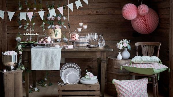 collection de décoration aux couleurs pastels pour des occasions spéciales