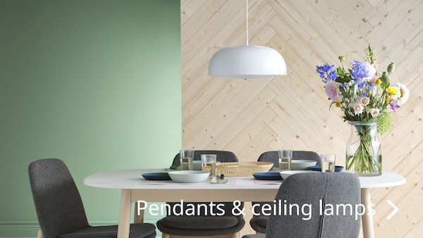 Pendant and ceiling lamps