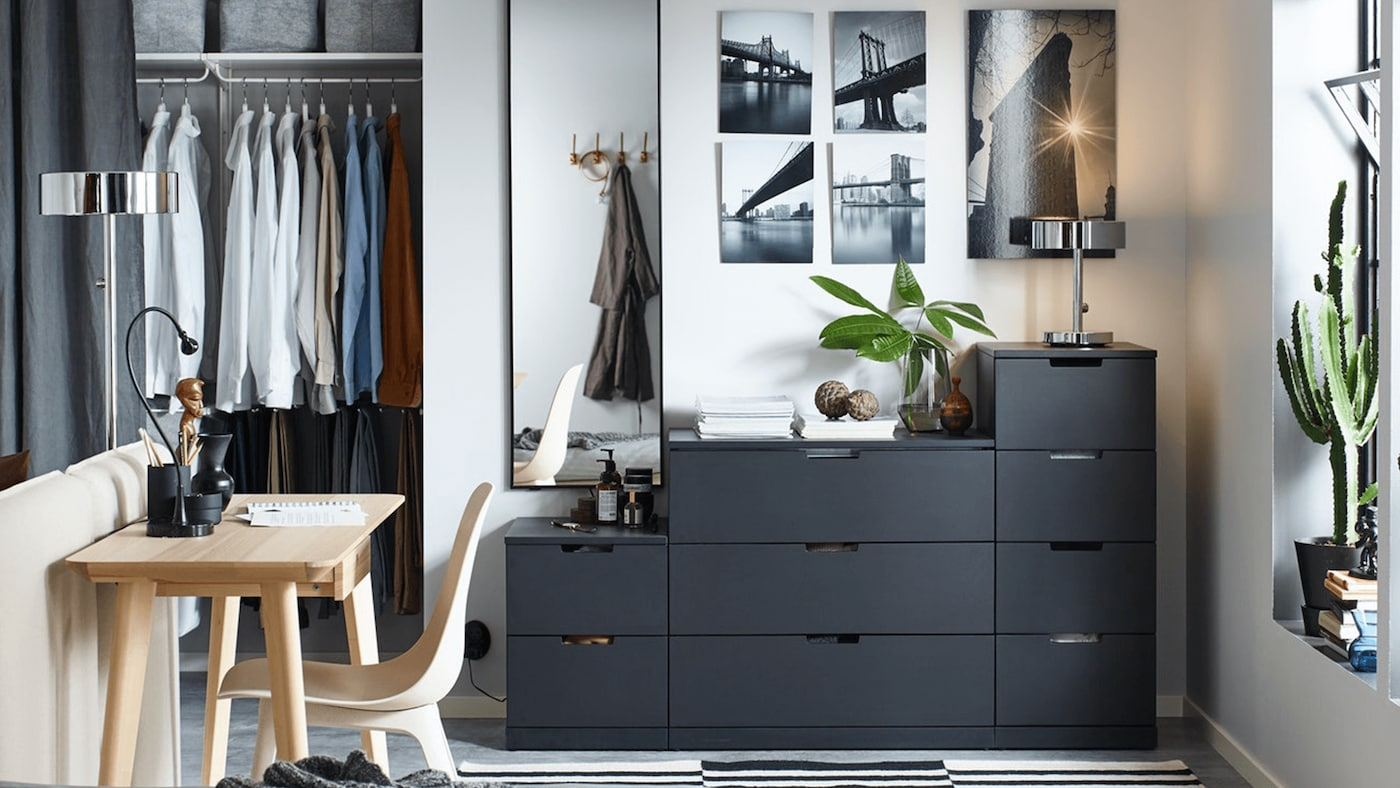 IKEA NORDLI bedroom and hallway storage
