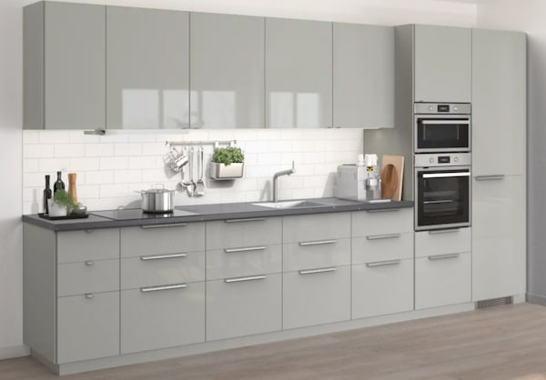 Cucina componibile RINGHULT grigio lucido - IKEA