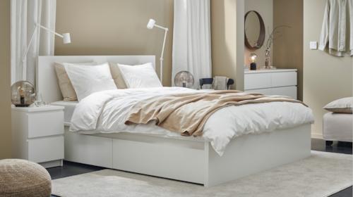 Familia de mobilier în stil modern pentru dormitor MALM
