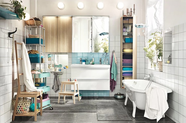 Mehr Platz zu zweit im Badezimmer - IKEA