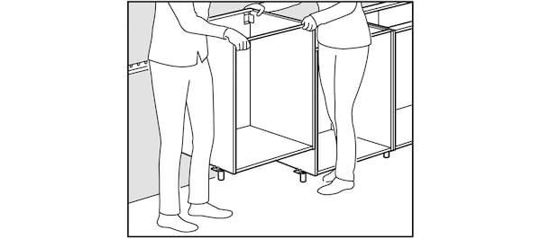 Bague d'écartement fournie avec les pieds de cuisine IKEA