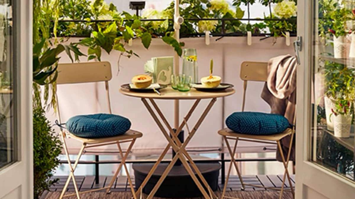 Sedie E Tavoli Da Esterno Ikea.Piccolo Balcone Grande Effetto Ikea