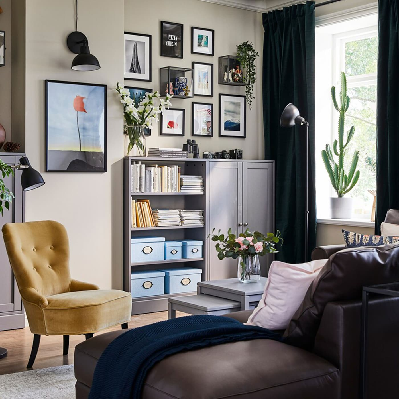 A small space living room for big adventurers - IKEA