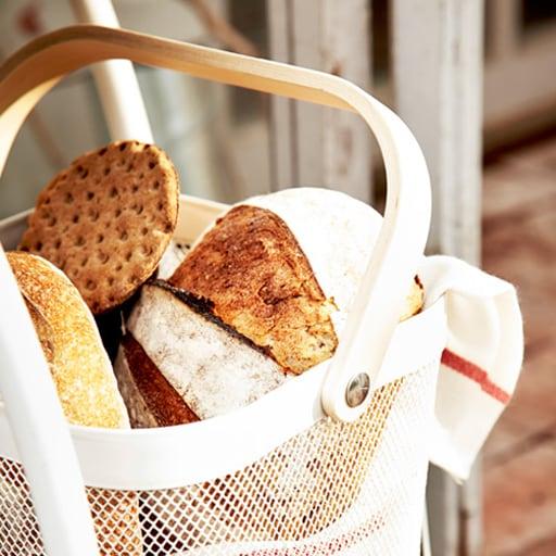 Basket filled with crisp breads