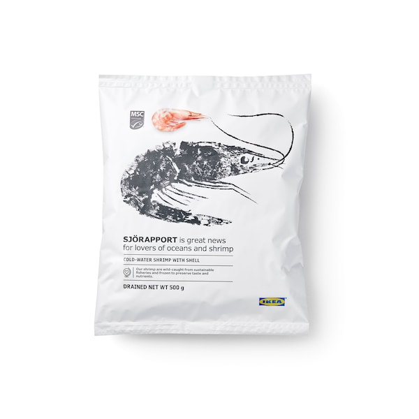 SJÖRAPPORT Shrimp with shell, frozen, 500g