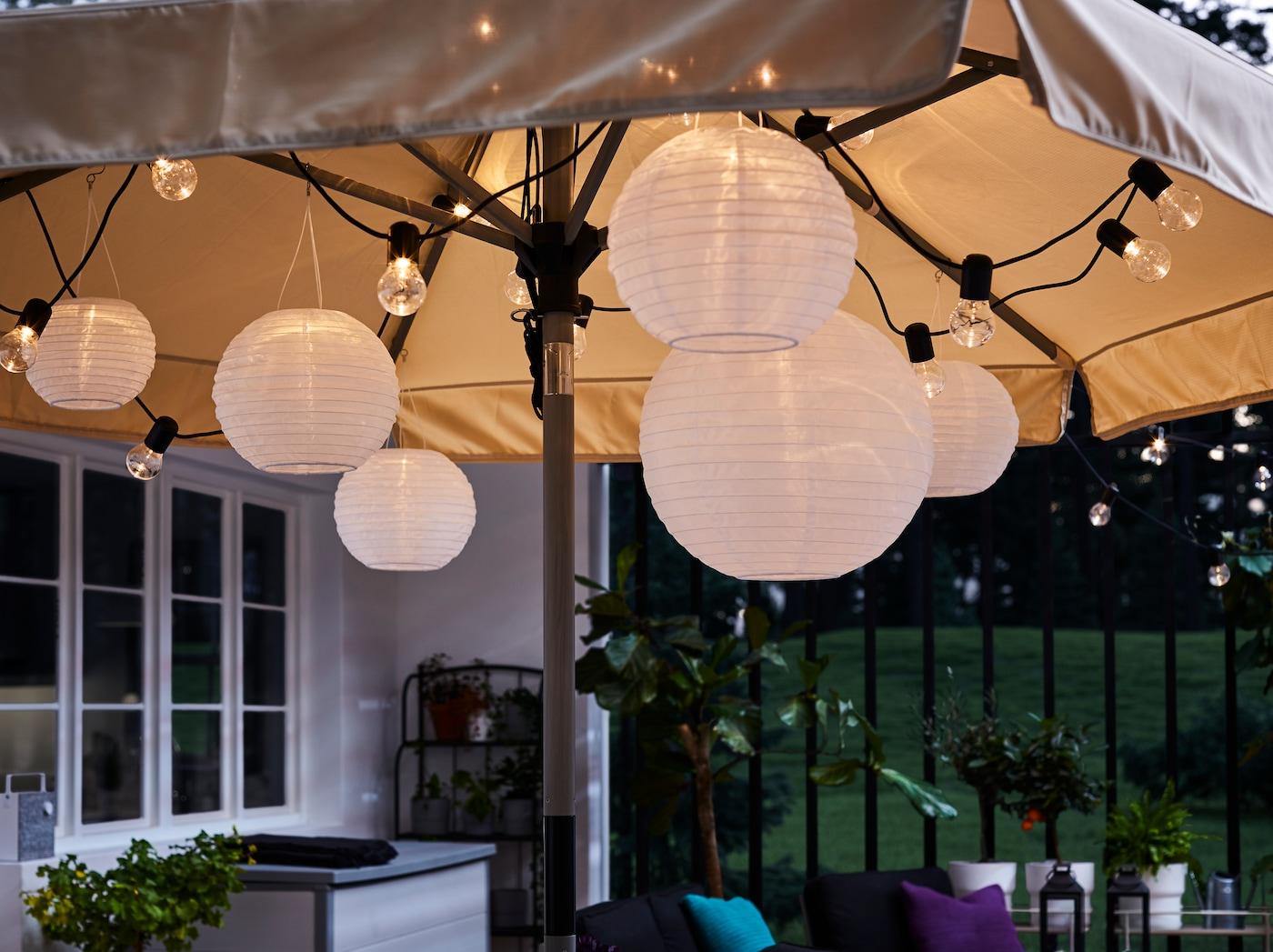 7 ideas para decorar tu terraza con farolillos IKEA