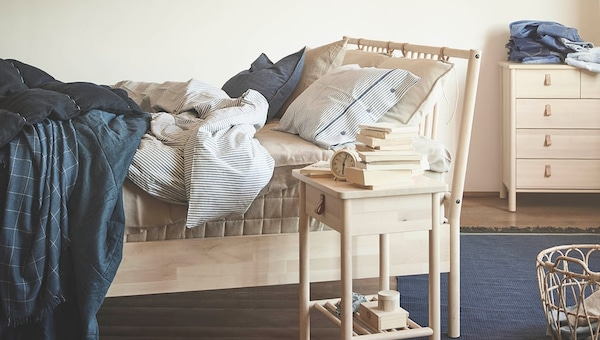 bed-frame-good-night's-sleep-good-bed-IKEA home decor inspiration