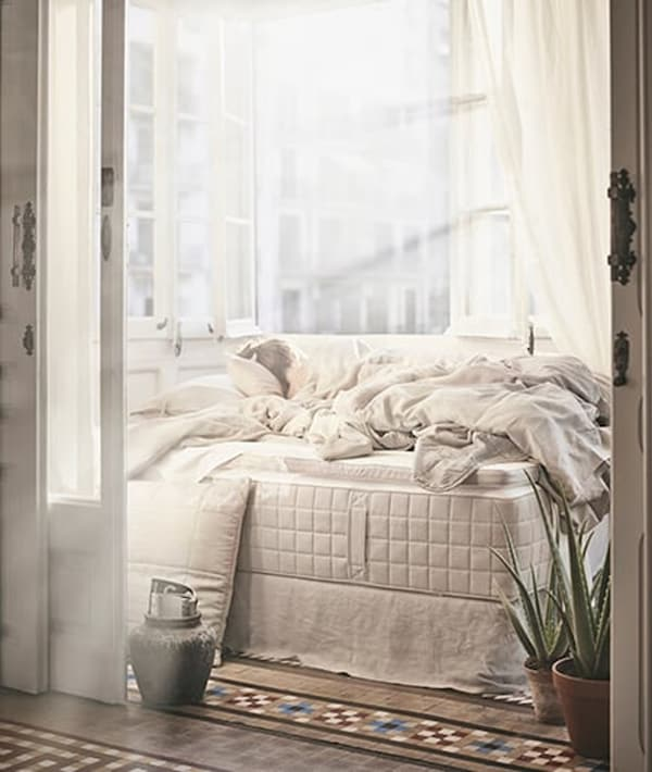 bed-good-night's-sleep-mattress-HIDRASUND-IKEA home decor inspiration