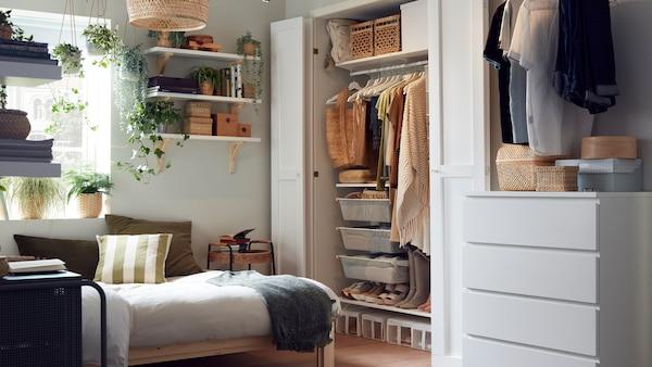 ベッドルーム家具のアイデアなどがいっぱいの、インスピレーションあふれるベッドルームのギャラリー。