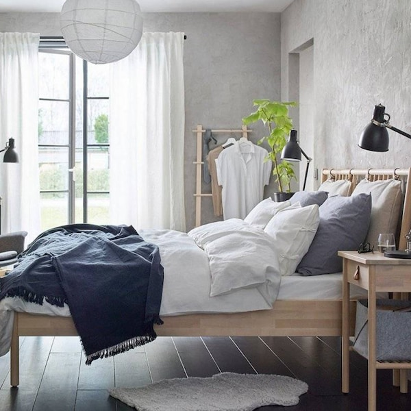 Bedroom with a BJÖRKSNÄS bed