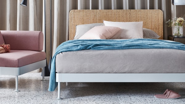 bedroom with soft colors Tom Dixon x IKEA part 2: delaktig collection