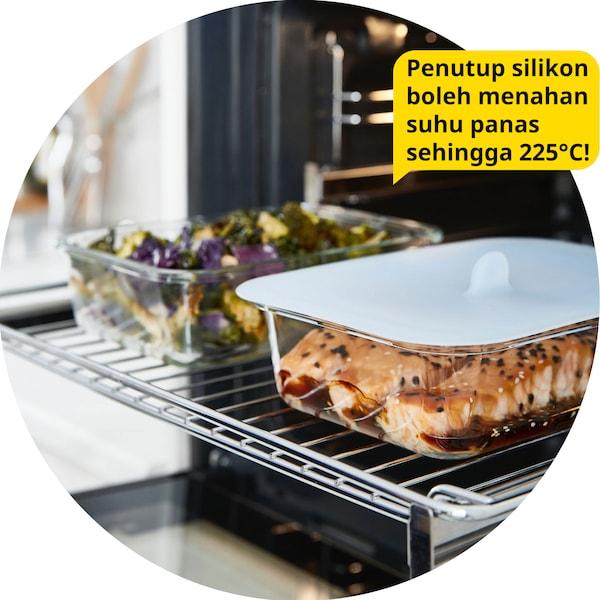 Bekas kaca berpenutup silikon IKEA 365+