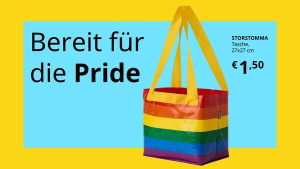 Bereits für die Pride Tasche um 1,5 Euro