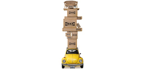 besser einen Leihtransporter mieten als aufs Autodach stapeln