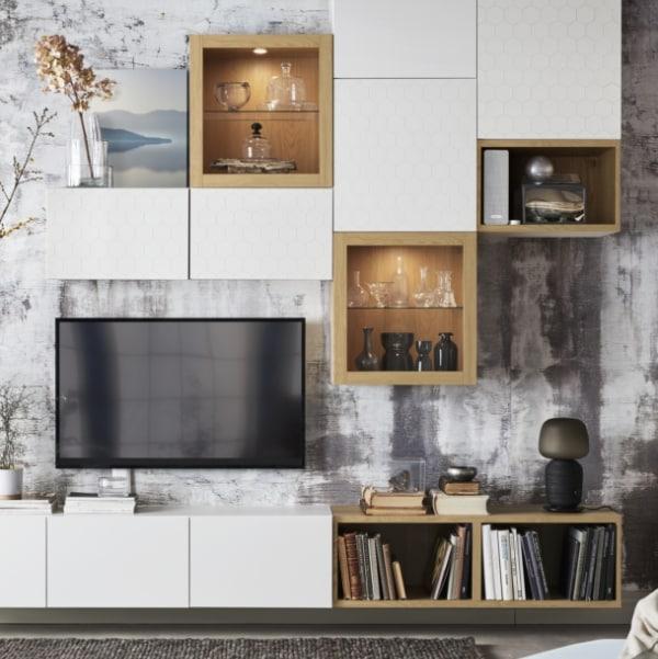 BESTÅ: combinaciones prediseñadas de muebles de salón