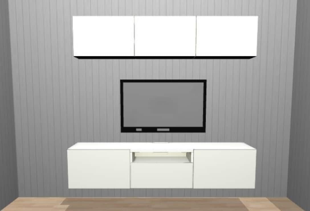 combinación de muebles blanco y negro ikea