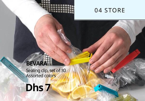 BEVARA sealing clip