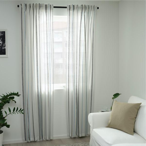 bilde av ÄDELPINNARE gardiner, hvit stripet.